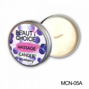 Массажная свеча для маникюра Beauty Choice черника 100мл