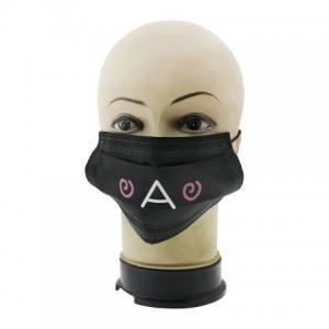 Защитная маска для лица черная Global 09