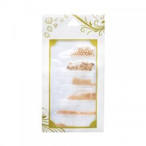 Металлические бульонки Global Fashion, розовое золото (6 размеров)