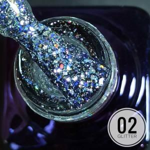 Гель-лак Mett Glitter 7мл 02