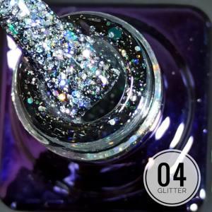 Гель-лак Mett Glitter 7мл 04