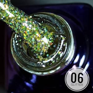 Гель-лак Mett Glitter 7мл 06