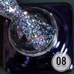 Гель-лак Mett Glitter 7мл 08