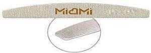 Пилка для ногтей Miami Titan тонкая серая полумесяц