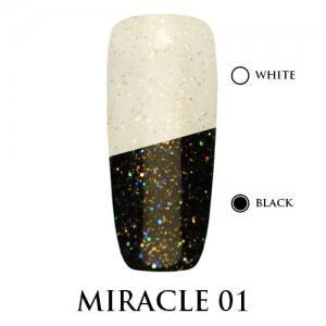 Miracle top Adore Professional без липкого слоя 7,5 мл №1 золотистое мерцание