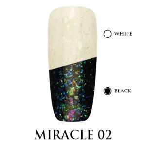 Miracle top Adore Professional без липкого слоя 7,5 мл №2 голубое мерцание