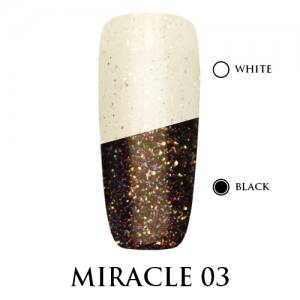 Miracle top Adore Professional без липкого слоя 7,5 мл №3 розовое мерцание
