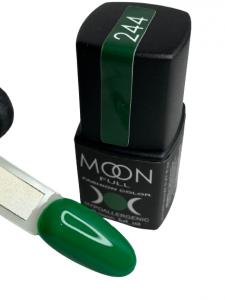 Гель-лак MOON FULL color Gel polish №244  зеленый