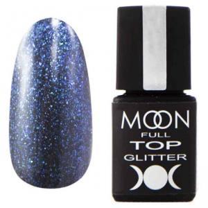 Top Glitter MOON FULL №4 Blue (прозрачный с синим микроблеском), 8 мл