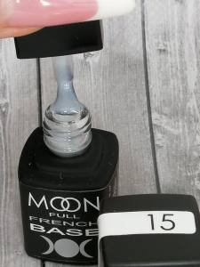French Base MOON FULL №015 ( молочный с шиммером), 8 мл