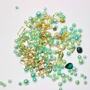 Набор декора Master жемчуг+металл.декор светлый зеленый
