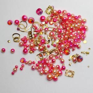 Набор декора Master жемчуг+металл.декор яркий розовый