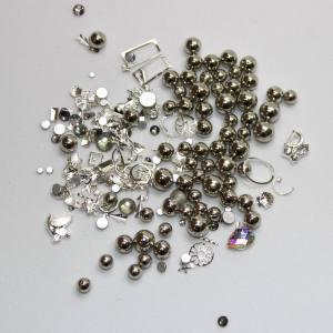 Набор декора Master жемчуг+металл.декор серый