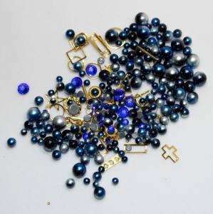 Набор декора Master жемчуг+металл.декор синий