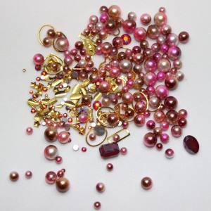 Набор декора Master жемчуг+металл.декор розовый