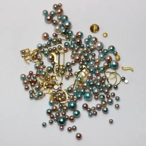 Набор декора Master жемчуг+металл.декор изумрудный+медный