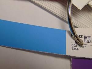 Фольга для кракелюра голубая 1м