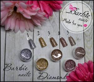 Гель-лак Barbie Nails Diamond баночка  5г