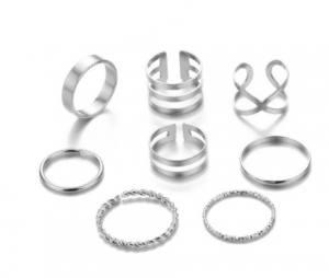 Набор колец для фото №4 8шт серебро