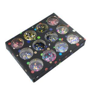 Набор декора для ногтей Starlet Professional, конфетти ассорти, крупные, 12 шт