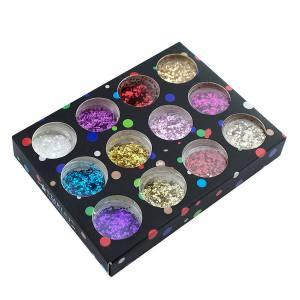 Набор декора для ногтей Starlet Professional, конфетти рефленые, мелкие, 12 шт