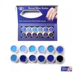 Набор гель-красок Global 5 ml*12 баночек Синий