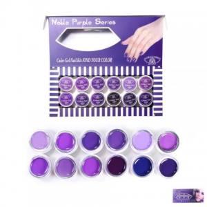 Набор гель-красок Global 5 ml Фиолетовый 12шт