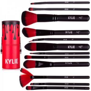 Набор кистей косметических Kylie в тубусе, 12 предметов