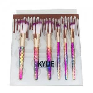 Набор кистей Kylie цветные (6 шт.)