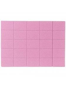 Набор мини бафов Kodi 120/120, цвет розовый 50шт