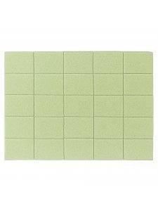 Набор мини бафов Kodi 120/120, цвет зеленый 50шт
