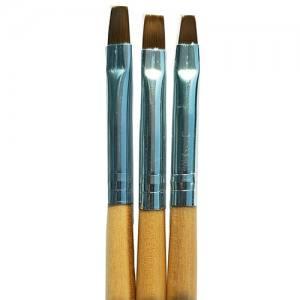 Кисть набор гель 3шт желтая ручка Mart