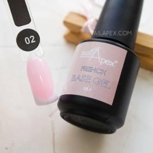База камуфлирующая Nailapex FRENCH Base №2 беловато-розовая 15мл