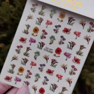 Наклейка для ногтей CA491