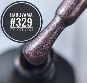 Гель-лак Haruyama Классика №329, сиренево-серый металлик, 8 мл