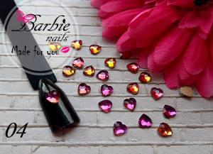 Стразы фигурные стекло BarbieNails 1шт №4