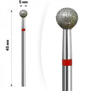 Алмазная насадка mART М- 018  Шарик Red 5мм
