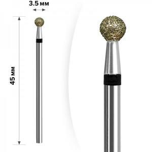 Алмазная насадка mART  М- 019 Шарик Black 3,5мм