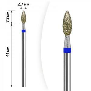 Алмазная насадка Mart Свеча Blue 2,7*7,3 М-035