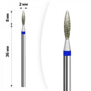 Алмазная насадка Mart Пламя Blue 2*8мм М-036