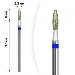 Алмазная насадка Mart М- 038 Пламя Blue 2,3*8