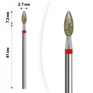 Алмазная насадка Mart  Свеча Red 2,7*7,3 М-05