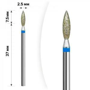 Алмазная насадка Пламя Blue 2.5*9мм М-26