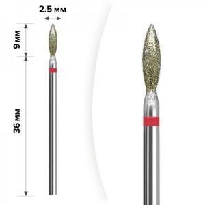 Алмазная насадка Mart Пламя Red 2.5*9мм М-29