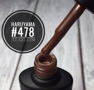 Гель-лак Haruyama Классика №478, бордово-коричневый, 8 мл