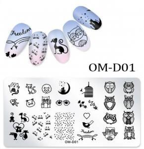 Пластина для стемпинга OM-D01