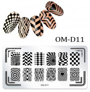 Пластина для стемпинга OM-D011
