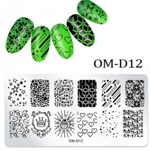 Пластина для стемпинга OM-D012