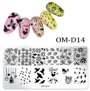 Пластина для стемпинга OM-D014