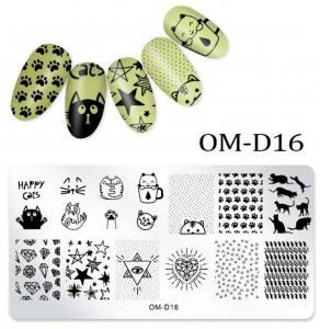 Пластина для стемпинга OM-D016